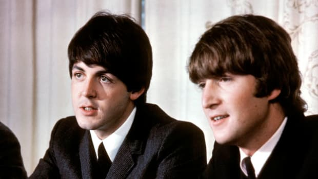 "On May 14, 1968, New York's public television station aired a ""Newsfront"" program featuring an interview with the Beatles' John Lennon and Paul McCartney. The songwriting duo discuss their role as superstars."