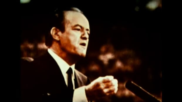 For his second run for the presidency, Nixon hired filmmaker Eugene Jones to produce ads that captured the turbulence and unrest in the nation at the time. Convention was one in a series -- mimicking the uneasy mood and tension in the US, suggesting that Nixon was the only man to bring the country together again.