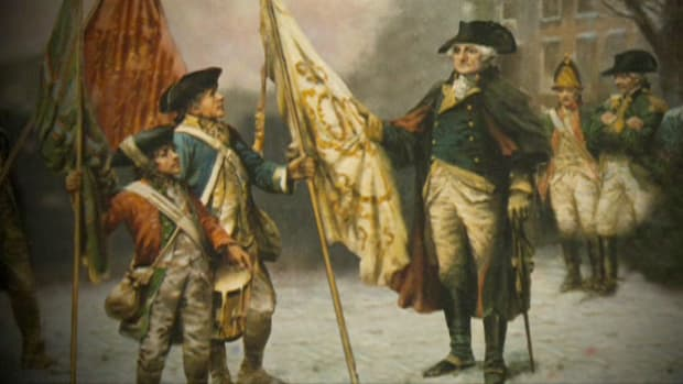 A two pronged attack by French & American forces defeats General Cornwallis in Virginia. Two years later, the Treaty of Paris will officially end the war