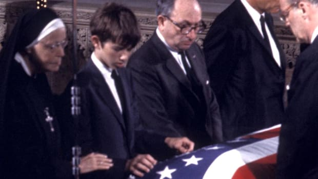 Robert Kennedy was on the verge of a run for president run when he was struck down by an assassin's bullet just like his brother before him.