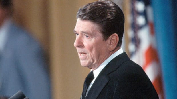 In address to the nation, President Ronald Reagan defends his decision to authorize production of the controversial neutron bomb as a warhead for missiles and artillery.