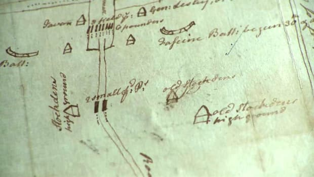 Hand-sketched map from 1777 helped George Washington plan for the Battle of Princeton during the American Revolutionary War.