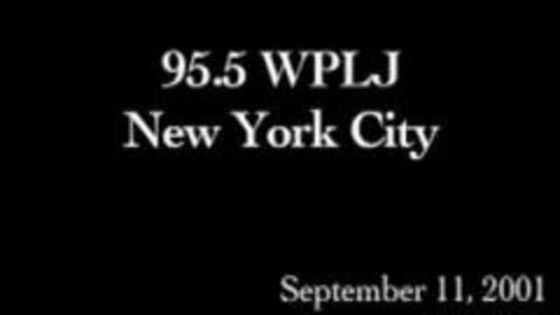 9/11 broadcast from NYC music radio station, WPLJ, after Two World Trade Center is hit.  Courtesy of Scott and Todd in the Morning, 95.5 WPLJ.