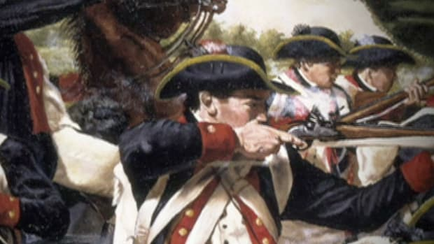 In April 1775, when British troops are sent to confiscate colonial weapons, they run into an untrained and angry militia. This ragtag army defeats 700 British soldiers and the surprise victory bolsters their confidence for the war ahead.