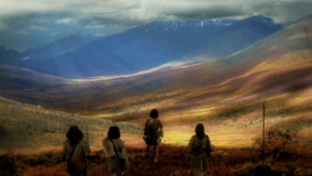 Paelo-Indians are believed to be the first humans to populate the Americas, around 10,000 B.C.