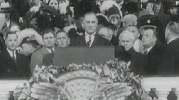 Excerpts from Franklin D. Roosevelt's first inaugural address on Saturday, March 4, 1933.