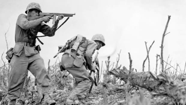 On April 1, 1945, the U.S. 10th Army under Gen. Simon Bolivar Buckner began the invasion of Okinawa, a Japanese-held island in the Pacific considered the final stepping stone in an advance toward the Japanese mainland. Two days into the invasion, a news report relays the story of the U.S. Army's fast-paced advance.