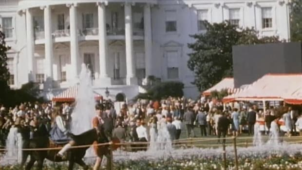 In a History Uncut video, see footage of President Lyndon B. Johnson's wife, Ladybird Johnson, enjoying herself at a fair at the White House in 1967.