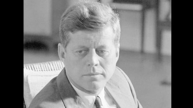 On October 18, 1962, President Kennedy met with nine of his advisers to discuss what to do about the Soviet missiles that U.S. aerial surveillance discovered in Cuba on October 16. After the meeting, President Kennedy went to the White House Oval Office and recorded his recollections of the meeting.