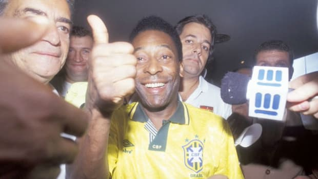 As goodwill ambassador for the Earth Summit, Brazilian soccer star Edson Arantes do Nascimento, better known as Pele, discusses the importance of the upcoming summit to be held in Rio de Janeiro in June 1992 to discuss an international effort to preserve natural resources by rethinking methods of economic development.