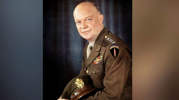 Mini-biography on the life of Dwight D. Eisenhower.