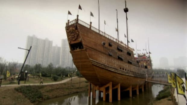 China was the world's greatest maritime power in the early 15th century, raising the theory that the Chinese discovered America 71 years before Columbus set sail.
