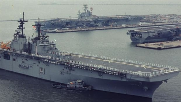 The U.S.S. WASP joins the fleet of active aircraft carriers for the U.S. Navy. This was the seventh ship to bear the name WASP for the Navy.