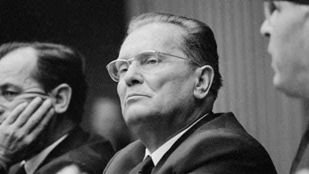 Yugoslavia's President Joseph Broz Tito, makes his first visit to the United States in October 1963. He expresses his gratitude to Americans for their welcoming greetings.