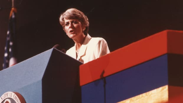 In a This Day in History video, learn that on July 12, 1984, the democratic presidential candidate, Walter Mondale made a radical announcement: a woman, Geraldine Ferraro, would be his vice presidential running mate. Ferraro became the first woman vice presidential candidate to run on a major ticket and women around the country rallied at the prospect of a woman Vice President, while critics attacked Ferraro's husband. Unfortunately, Mondale was no match for sitting President Ronald Reagan.
