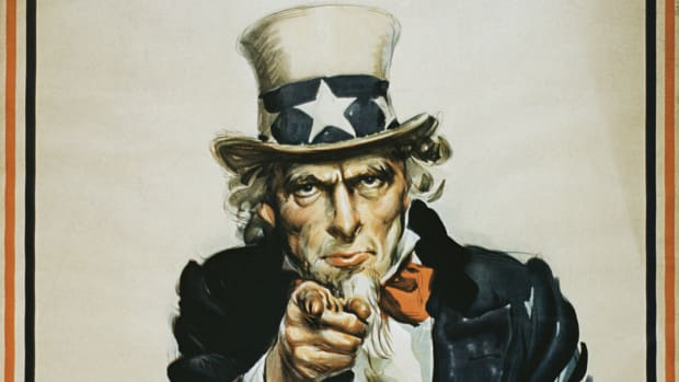 This This Day in History video discusses how the nickname Uncle Sam came about. It seems that Samuel Wilson sold staples like beef to the military and his name was on the crates. Soldiers started referring to it as gear from Uncle Sam. The date was 9/07/1813.