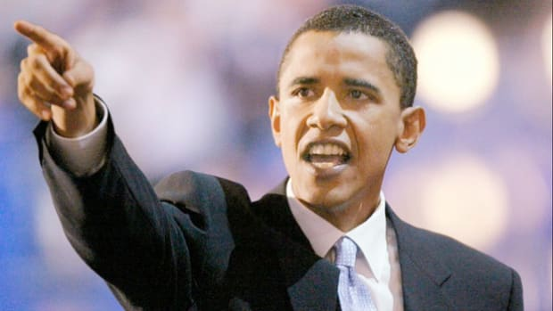 On July 27, 2004, Barack Obama, then a little-known Democratic nominee for the U.S. Senate from Illinois, delivers the keynote address at the Democratic National Convention. His speech, in which he describes his personal story of the American Dream, catapults him into the national spotlight.