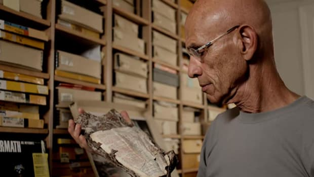 A Bible found in the rubble of Ground Zero survives in the hands of a photographer. Part of the Emmy Award winning web series, Remembering 9/11.