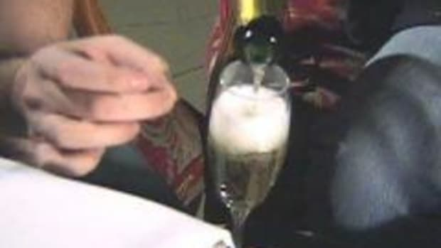 In this Holiday Foods video clip we learn about New Year's Eve and the tradition of the champagne toast. Famous Fat Dave talks about different traditions associated with champagne. Also, he learns how to saber a bottle of champagne with a sword, something Napoleon often did.