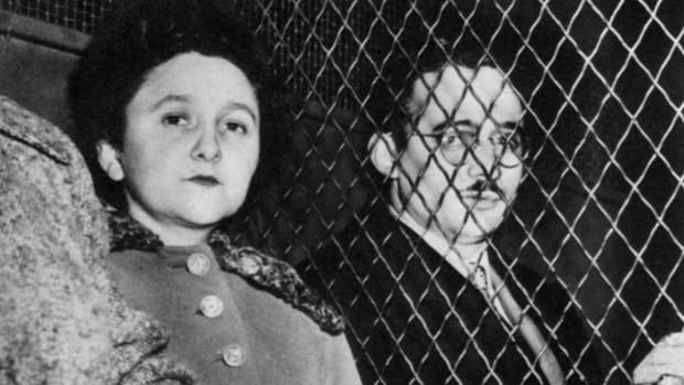 In This Day in History video clip: On this day in 1953, Julius and Ethel Rosenberg, who were convicted of conspiring to pass U.S. atomic secrets to the Soviets, are executed at Sing Sing Prison in Ossining, New York. Both refused to admit any wrongdoing and proclaimed their innocence right up to the time of their deaths, by the electric chair.