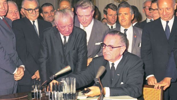 The Civil Rights Act of 1964, the most sweeping civil rights legislation  since Reconstruction, prohibited racial discrimination in employment and education, and outlawed segregation in public facilities.