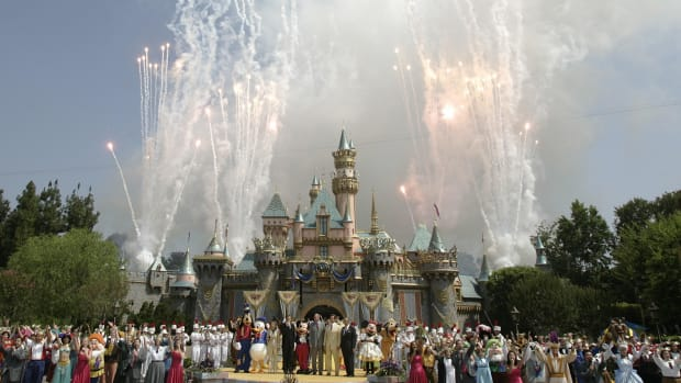 In a This Day in History video, learn that on July 17, 1955, Disneyland opened its doors in Anaheim, California; it was a disaster. The summer heat was so intense that women's heels were sinking into the soft asphalt, refreshment stands ran out of drinks, some rides were breaking down, and there was a gas leak. The next day, newspapers announced that Walt Disney's dream had become a nightmare. But Walt and his crew fixed the problems and by the time the year was coming to an end, nearly four million people had visited his magic kingdom.