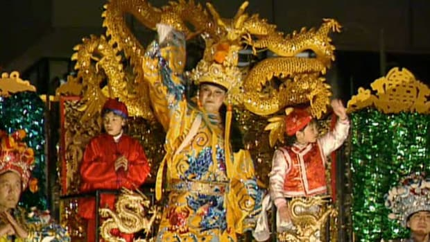 The 15-day long Chinese New Year celebration originated from an ancient Chinese legend of the monster Nian.