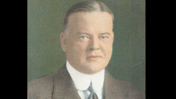 On October 18, 1931, as the nation faces a deepening depression, President Herbert Hoover announces in his radio address the inauguration of a six-week campaign to raise local relief funds to aid the unemployed.