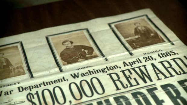 Five days after Abraham Lincoln was fatally shot, authorities distributed posters promising a large reward for the capture of his assassin: John Wilkes Booth.