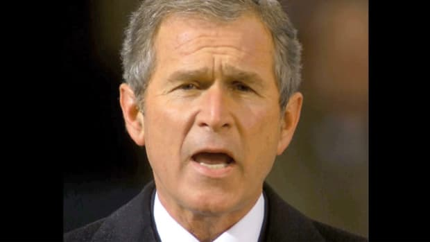 After an unprecedented 36-day legal battle over the 2000 presidential election results, the U.S. Supreme Court declared George W. Bush the winner. In his inaugural address on January 20, 2001, President Bush pledges to bring unity to the nation.