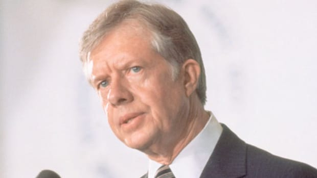 On April 11, 1980, President Jimmy Carter approved a military operation to rescue the remaining 52 American hostages from the hands of young revolutionaries who had seized the U.S. Embassy in Tehran in November 1979. After the mission ends with eight U.S.servicemen dead and no hostages freed, President Carter discusses the event at a press conference.