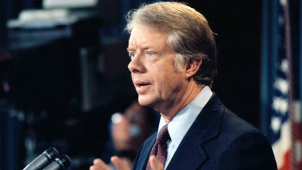 On November 4, 1979, a group of student revolutionaries in Iran seized the U.S. Embassy in Tehran, holding more than 60 Americans hostage. On November 11, President Jimmy Carter imposed an oil embargo against Iran, which he explains in an address to the nation.