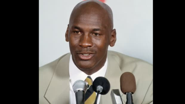 At a press conference held at the Chicago Bulls' practice facility on October 3, 1993, Michael Jordan announces his retirement from basketball at age 30. While he says he still loves the game of basketball, he cites lack of motivation and a desire to go out on a high note as the reasons behind his decision. Two years later, Jordan returned to play in the NBA again.