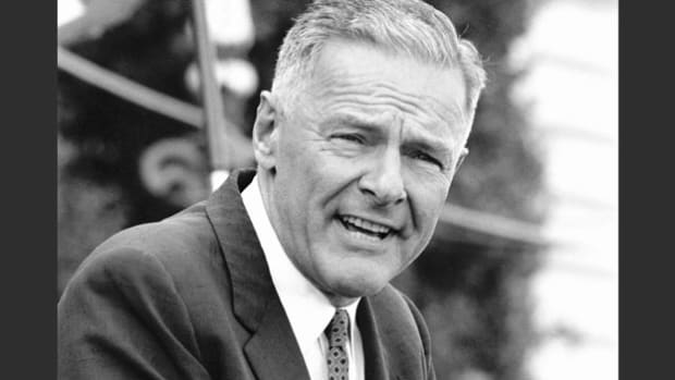 As the principal speaker at the National Republican Club's 1957 Lincoln Day Dinner, Ambassador Henry Cabot Lodge Jr. discusses the continuing appeal of the 16th president.