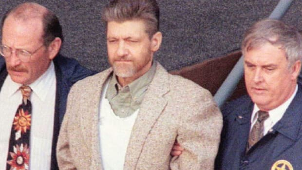 On April 3, 1996, a CBS news report announces the arrest of Theodore Kaczynski, the Harvard graduate who was suspected and later proven to be the Unabomber. Kaczynski terrorized the country for nearly two decades with a series of mail bombings that killed three people and wounded 23.