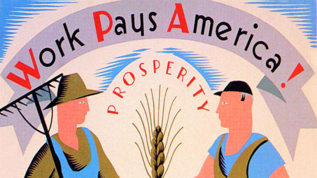 President Franklin Roosevelt creates a series of programs designed to help America cope with, and recover from the Great Depression.