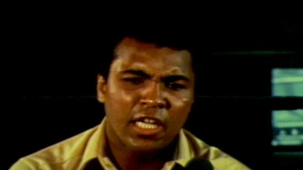 "Travel back in time to 1974 and listen to Muhammad Ali talk about his upcoming ""Rumble in the Jungle"" bout with George Foreman."