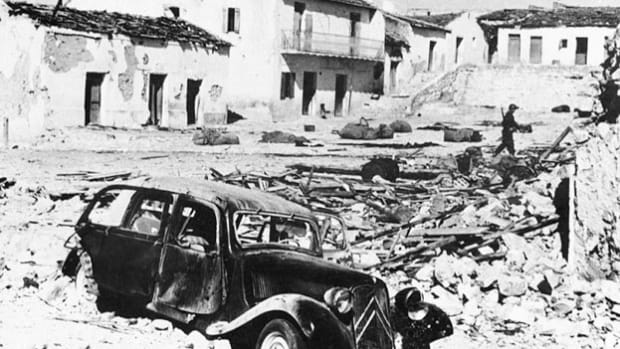 On February 7, 1958, French planes flying over the Tunisian village of Saqiyat Sidi Yusuf were machine-gunned by Algerian forces. The next day, France responded by bombing the village. Diplomat Herve Alphand delivers a statement on the retaliatory strike.