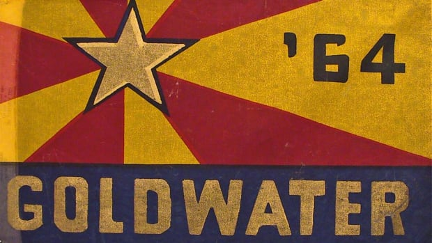 If Democrats could use children to remind the public how dangerous the world can be, so can Republicans. In this ad for his defense, Goldwater implies that LBJ is soft on Communism, and only he could protect America.
