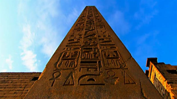 Workers carved the 700-ton Obelisks of Luxor from a single piece of red granite.