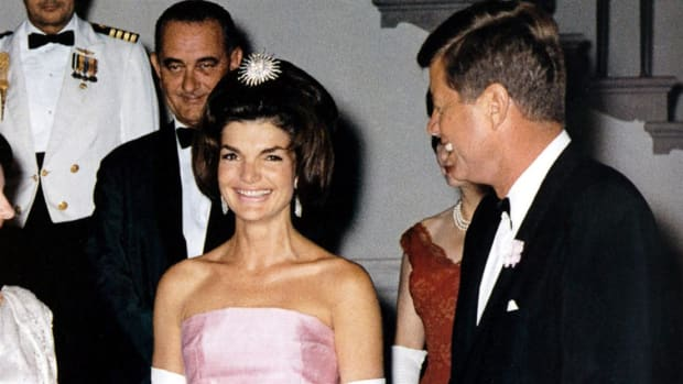 A newsreel film report on the 1953 marriage of John F. Kennedy and Jacqueline Bouvier.