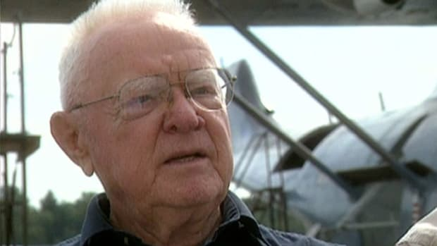 Retired U.S. Navy pilot Bob Larson talks about the dangers of flying a PBY airplane during World War II.
