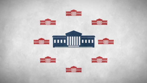 What are the origins of the judicial branch of the U.S. government? What powers does the Supreme Court have, and what are its most notable rulings?