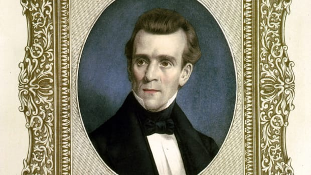 This Day in History - May 13, 1846, U.S. Congress votes in favor of President James K. Polk's request to declare war on Mexico in a dispute over Texas.