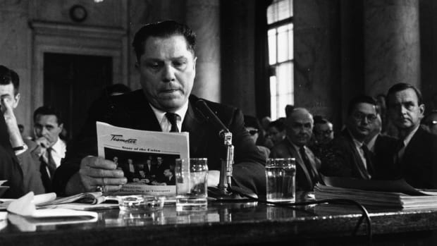 In a This Day in History video, learn that on July 31, 1975, labor leader Jimmy Hoffa disappeared. As President of the teamsters union, Hoffa was a man with connections and who got what he wanted. It was the mafia who got him elected for the position, and when arrested for bribery, Hoffa received a free pass from Nixon. When Hoffa was released from prison, he wanted his job back and went to go speak with his mob buddies; Hoffa was never seen again.