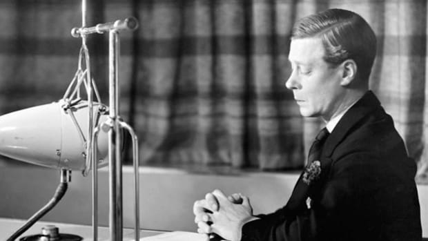 On December 11, 1936, Edward VIII, king of Great Britain and Ireland, broadcasts his decision to renounce his throne. Because he insisted on marrying the twice-divorced American Wallis Simpson, Edward had no choice but to abdicate.