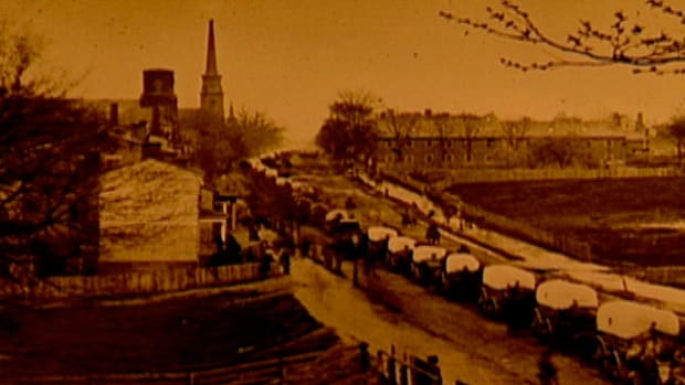 In the last days of the Civil War, the Confederate capital of Richmond falls after nine months under siege. General Lee and President Jefferson Davis flee the city as Union forces advance to reclaim Virginia.