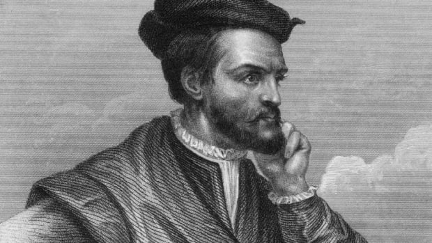 "French explorer Jacques Cartier named Canada after ""kanata,"" the Huron-Iroquois word for settlement. Learn more about his search for a passage to East Asia and how he laid the original French claim for Canada in this video."