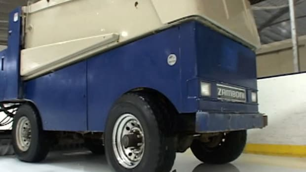 The Zamboni ice resurfacing machine was developed by Frank Zamboni in 1939.