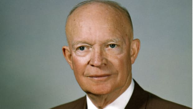 In November 1958, Soviet Premier Nikita Khrushchev demanded that Western forces pull out of West Berlin in six months. On March 16, 1959, in a radio and television report to the American people, President Eisenhower speaks of the escalating Cold War tensions over Berlin, stressing that the United States will not give in to pressure from the USSR.